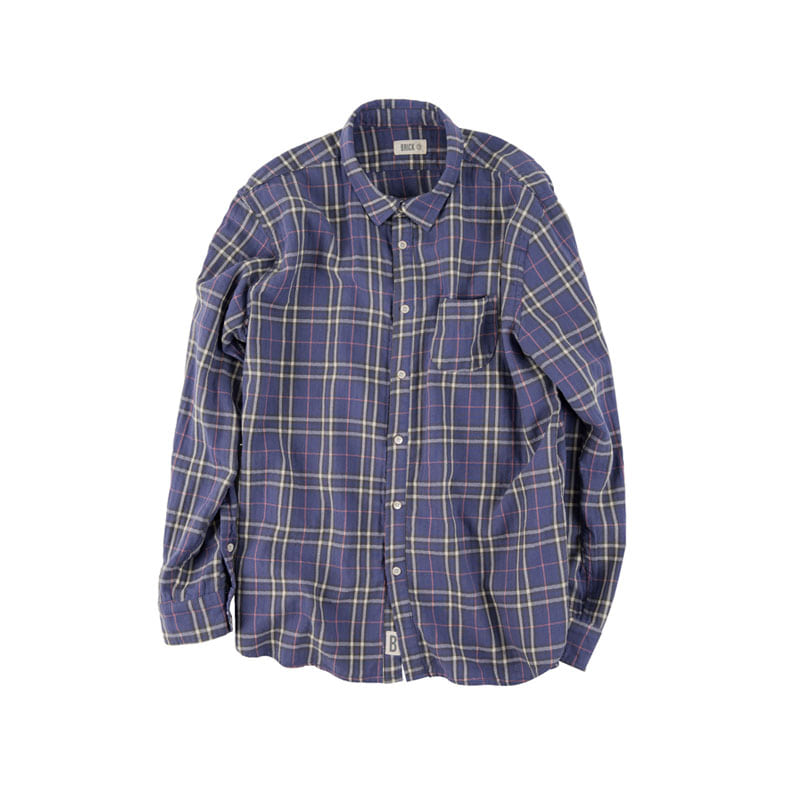 TARTAN CHECK SHIRTS-in the closet (PURPLE)