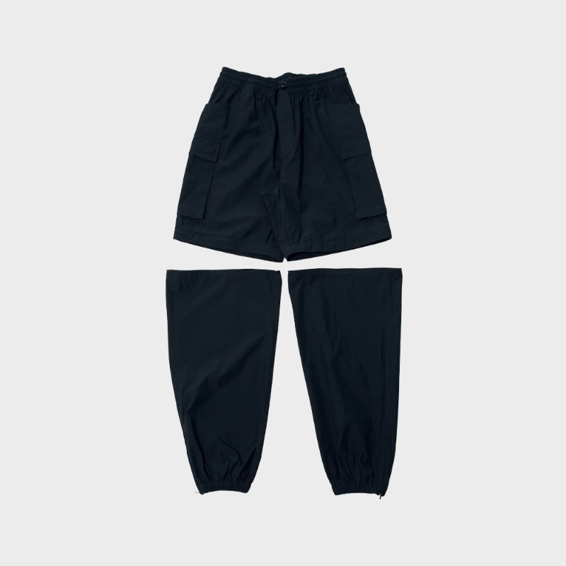 DOCKING CARGO NYLON PANTS (BLACK)