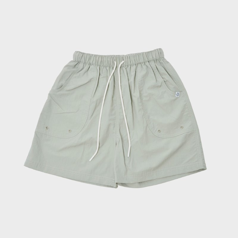 GO ROUND NYLON BAKER SHORTS (LIGHT GRAY)