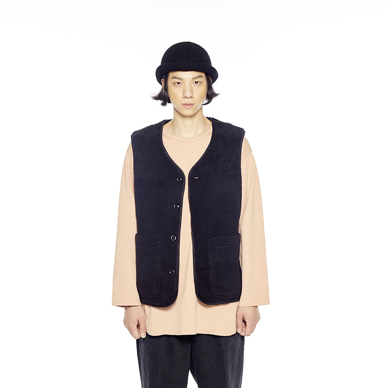 BOA FLEECE VEST (BLACK)