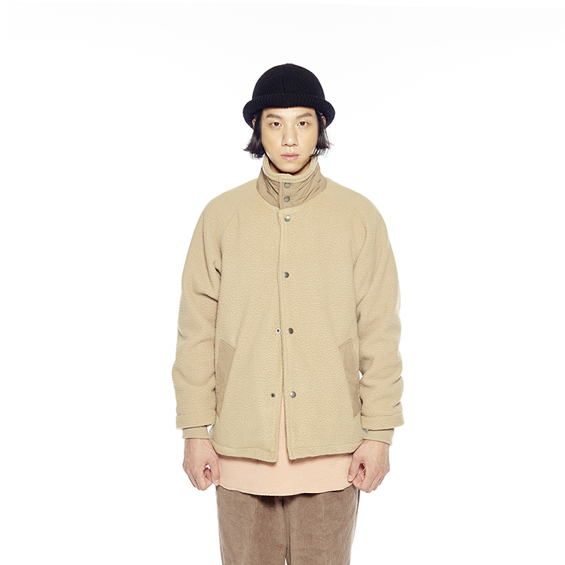 PILE FLEECE SNAP JACKET (WARM SAND)