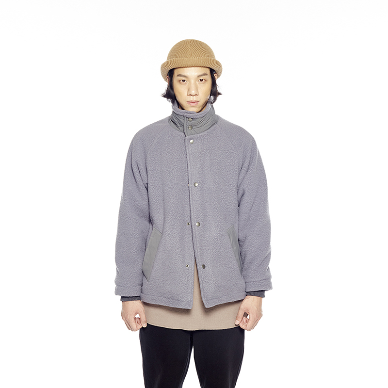 PILE FLEECE SNAP JACKET (FROST GRAY)