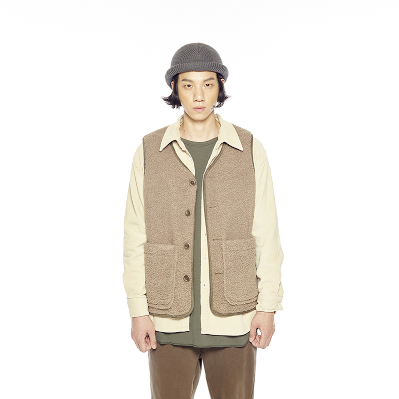 BOA FLEECE VEST (OLIVE GRAY)