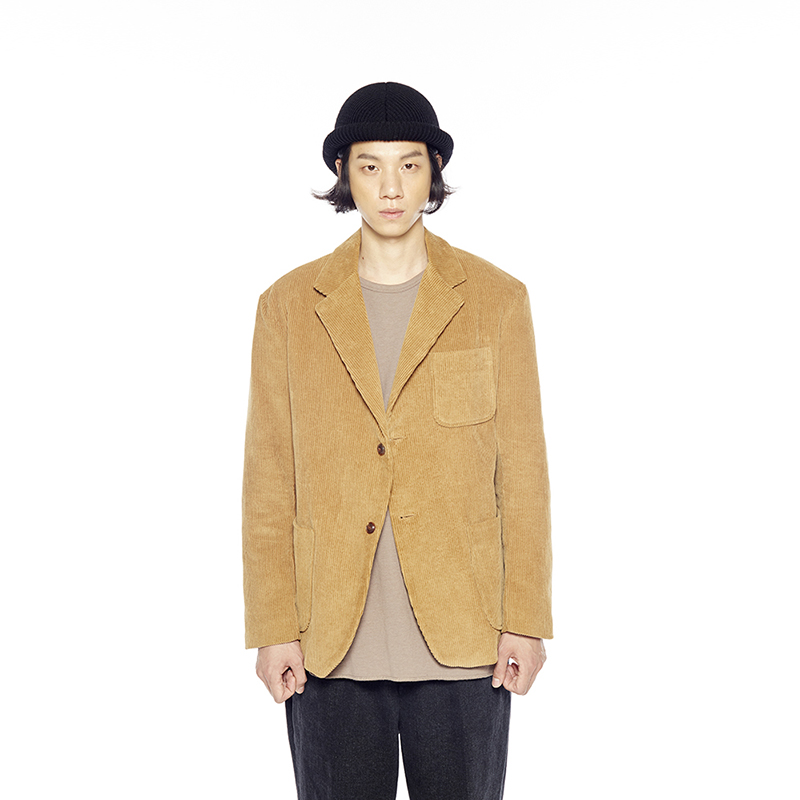 CORDUROY BLAZER-in the closet (MUSTARD GOLD)