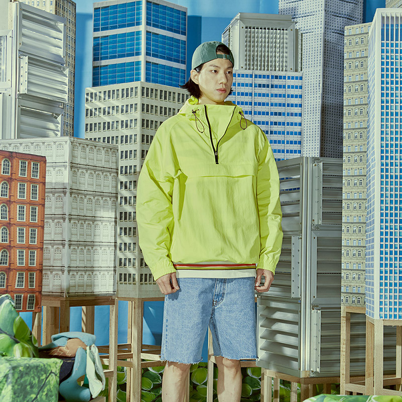 RUSTLE W/P NYLON ANORAK(LIMELIGHT)