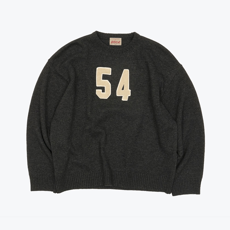54 LAMBSWOOL SWEATER(CHARCOAL)