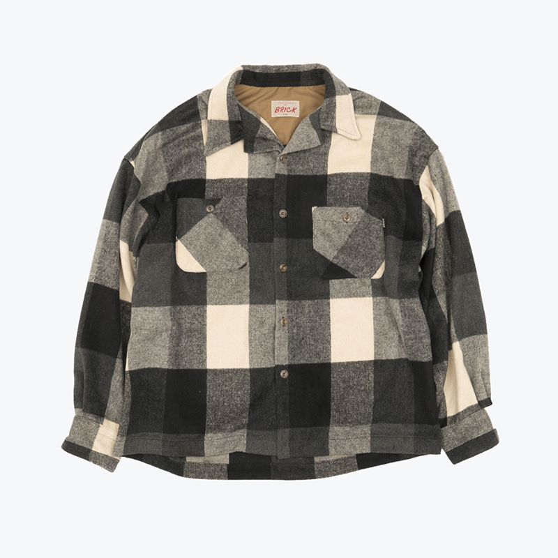 GINGHAM CHECK NAP SHIRTS(BLACK BASE)