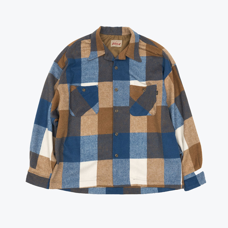 GINGHAM CHECK NAP SHIRTS(BLUE BASE)