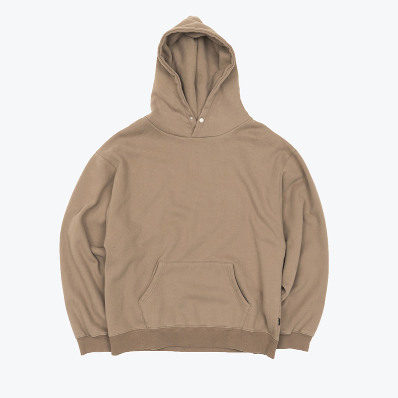 MELLOW-bio SNAP HOODY(OXFORD TAN)