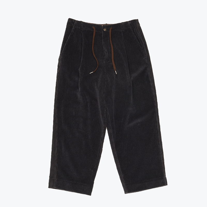 BOLD CORDUROY WIDE PANTS(CHARCOAL)