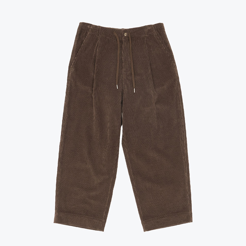 BOLD CORDUROY WIDE PANTS(BROWN)