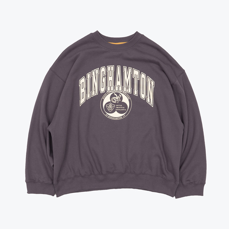 BINGHAMTON SWEATSHIRTS(MULLED GRAPE)