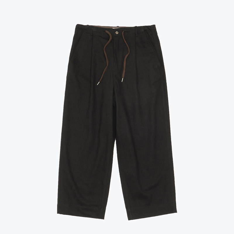 SOLID COTTON WIDE PANTS(ZET BLACK)