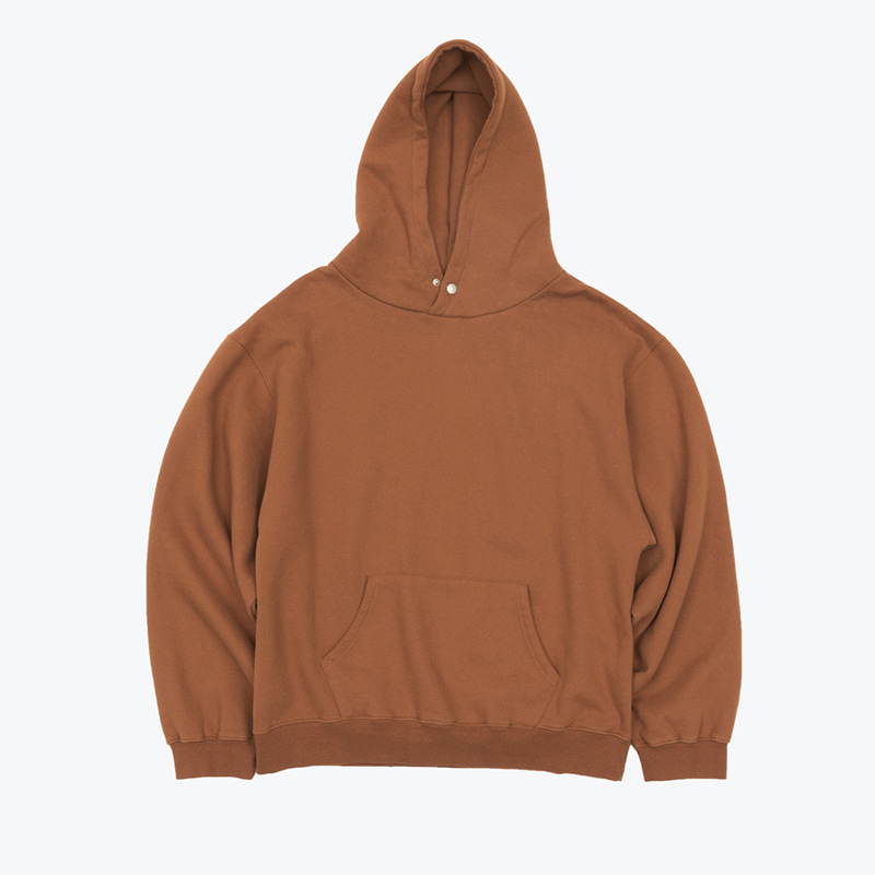 MELLOW-bio SNAP HOODY(BURNT BRICK)