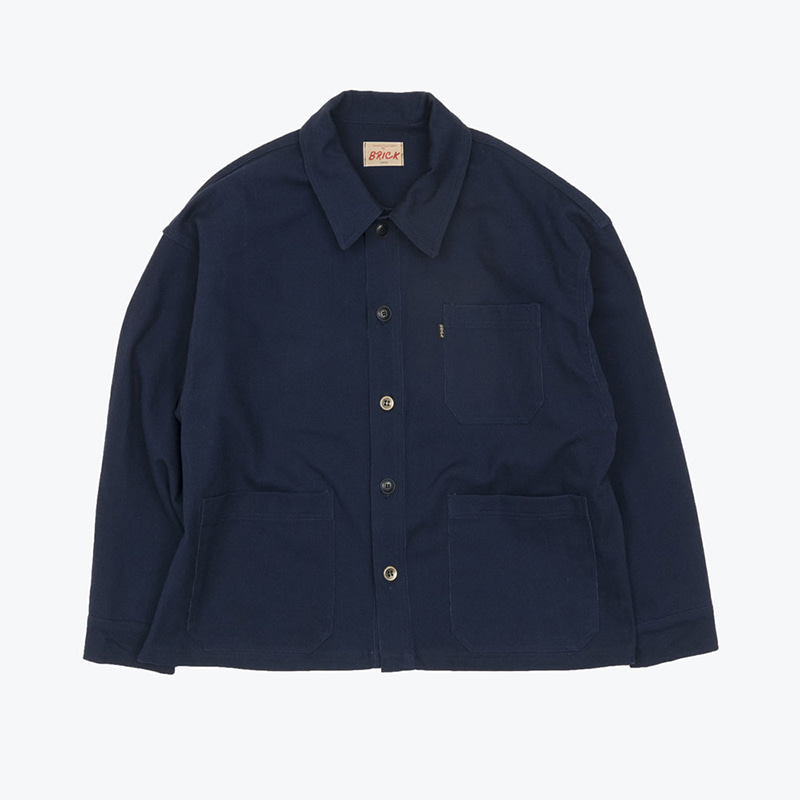 FRENCH DOBBY WORK JACKET(INDIGO)