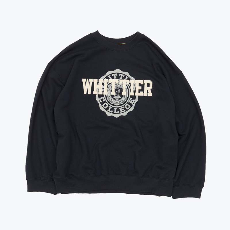 WHITTIER SWEATSHIRTS(NAVY)