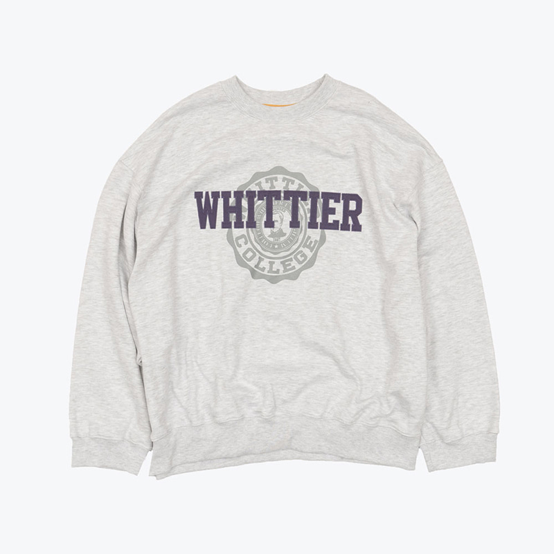 WHITTIER SWEATSHIRTS(LIGHT MELANGE)