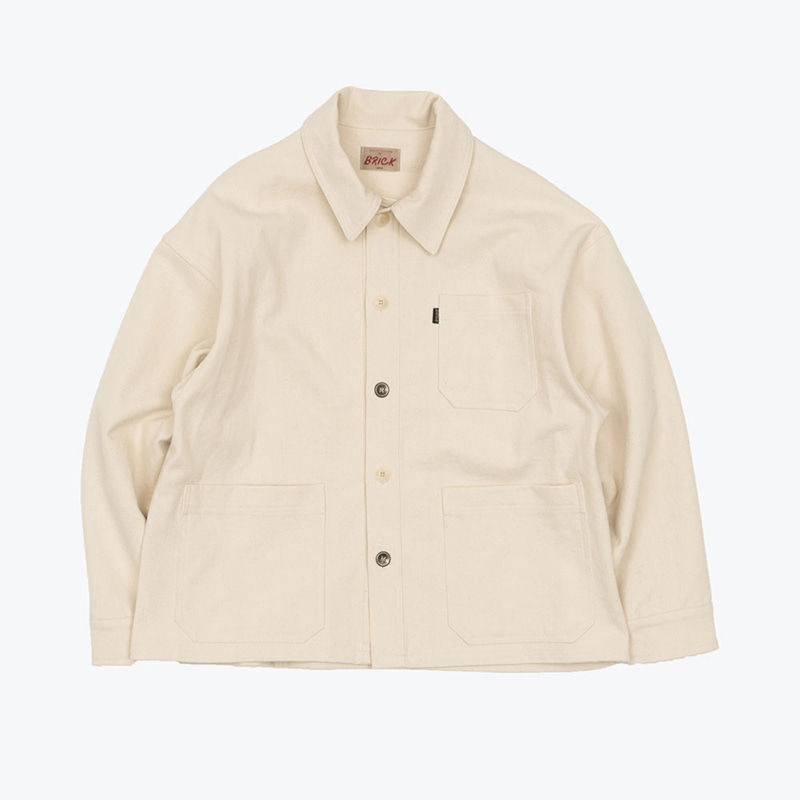 FRENCH DOBBY WORK JACKET(NATURAL)