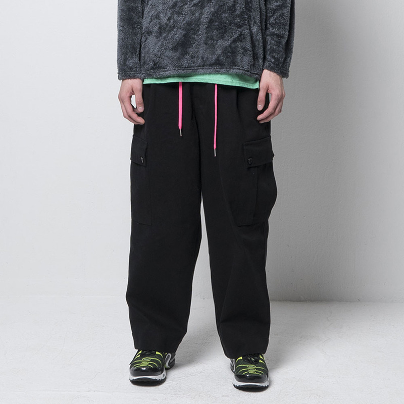EFFECT CARGO PANTS(BLACK)