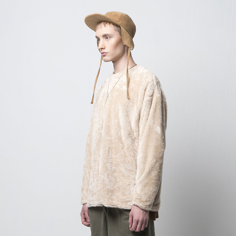 BEAR FLEECE TOP(BEIGE)