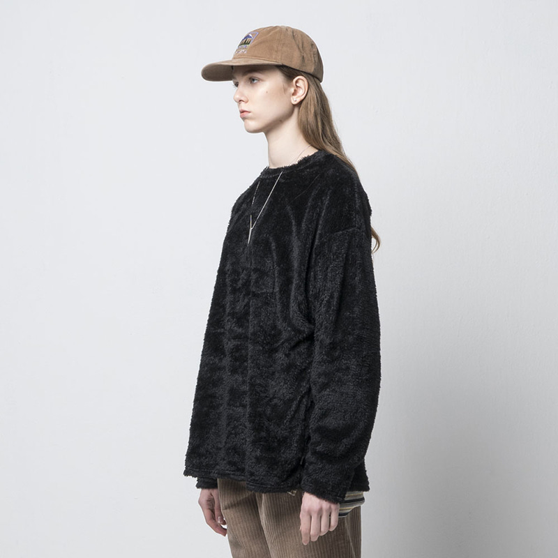 BEAR FLEECE TOP(BLACK)