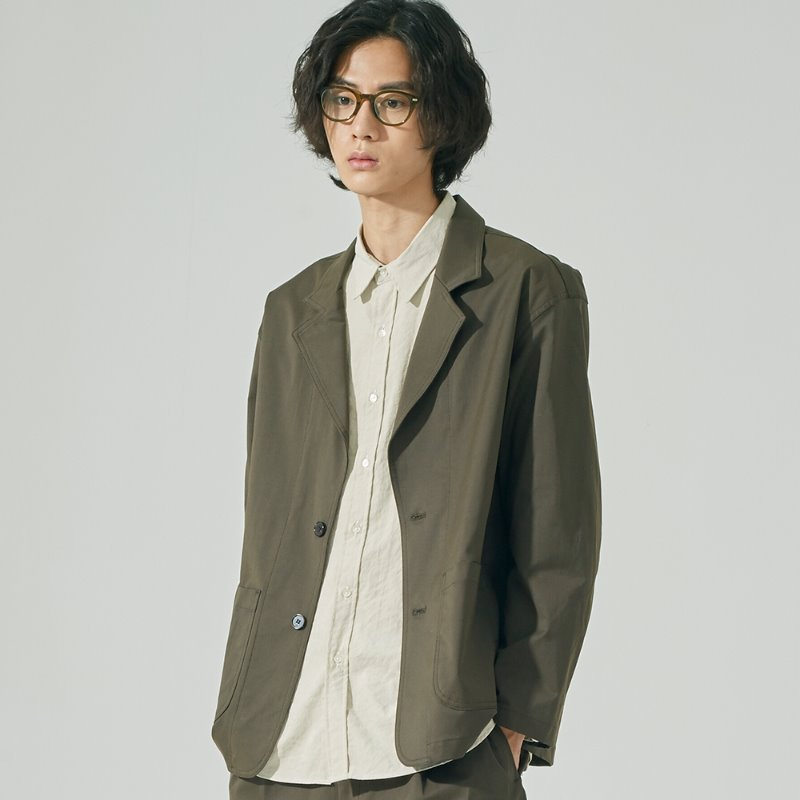 CP STRETCH AMPLE JACKET (DARK OLIVE)