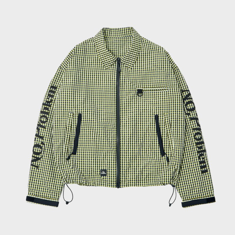 CHECKER ZIP ACTION BLOUSON (YL/BK)