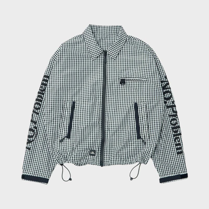 CHECKER ZIP ACTION BLOUSON (WH/BK)