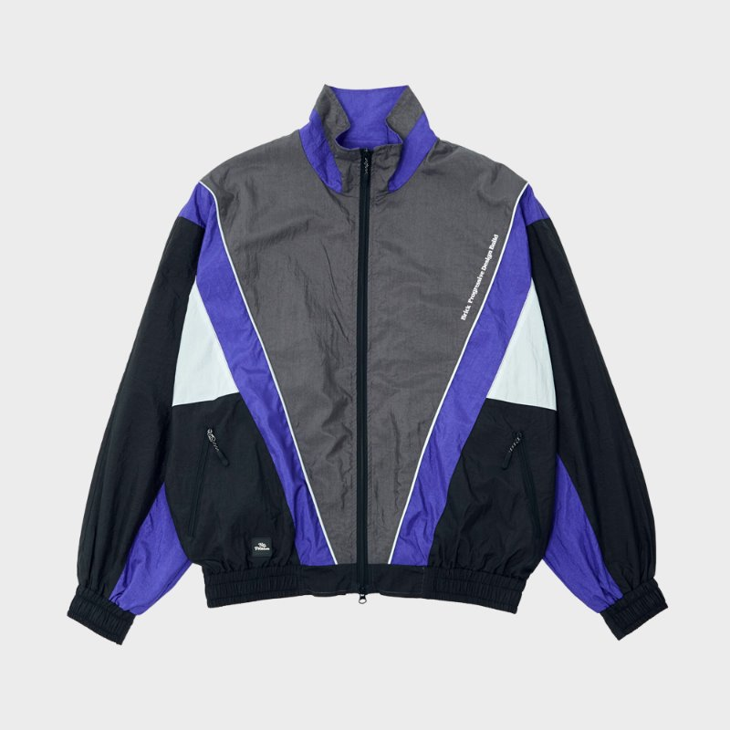 SWANKY NYLON TRACK JACKET (BLACK)