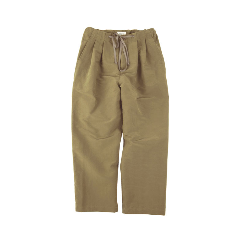 PN SAND WASHING WIDE PANTS (OLIVE BROWN)