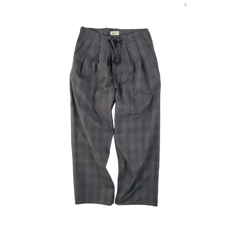 PR GLEN CHECK WIDE PANTS