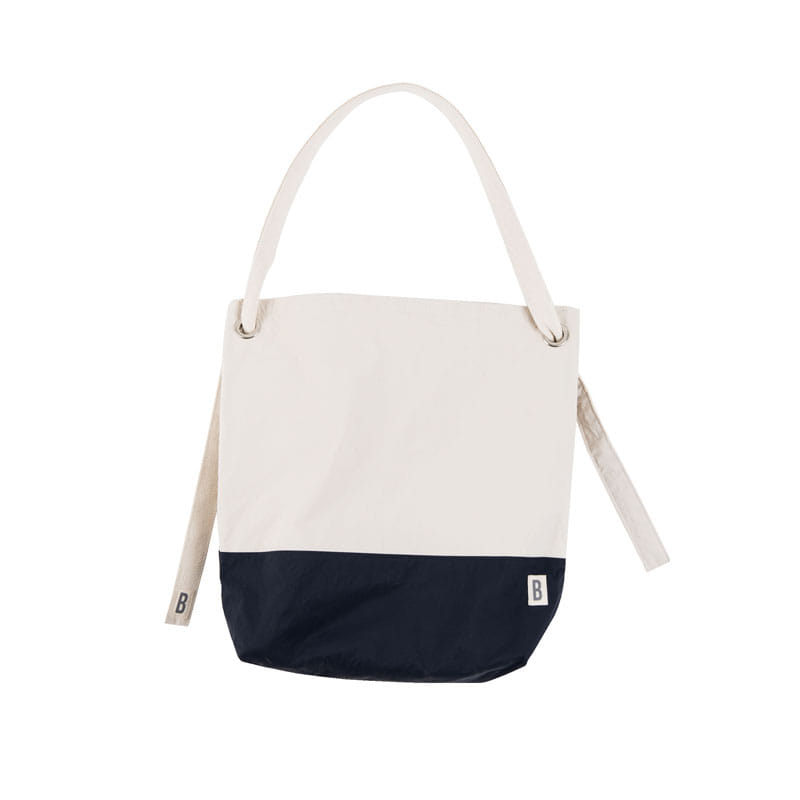 3-WAY NYLON MULTI BAG (OFF WHITE+NAVY)